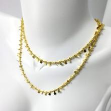 Doğal Kuyumcu Mini Figürlü Kolye - Gold