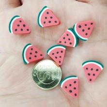Mini Emaye Hamur Sİlikon Meyve Parçacıkları - Üçgen Karpuz Dilimi