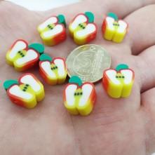 Mini Emaye Hamur Silikon Meyve Parçacıkları - Elma