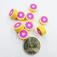 Mini Emaye Hamur Silikon Meyve Parçacıkları - Greyfurt