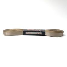 Saten Kurdele - 1cm Kenarlı Açık Kestane 25 Adet