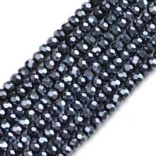 8mm  Kristal Boncuk - Antrasit lacivert