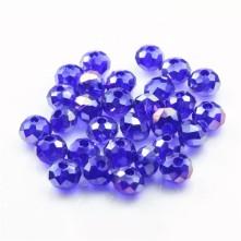 8 mm  Kristal Boncuk - Çin Camı - şeffaf açık saks