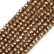 ipe dizili kristal boncuk - 8mm - kaplama janjanlı - Gold