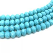 İpe Dizili kristal boncuk - 8mm - mat bebe mavisi