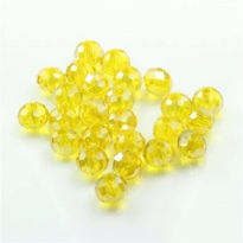İpe Dizili Kristal Boncuk -10 mm  limon sarı