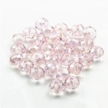 Kristal Boncuk - 10 mm  janjanlı acık pembe