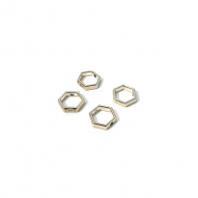 Metal Bileklik Ucu - Altıgen - 10mm