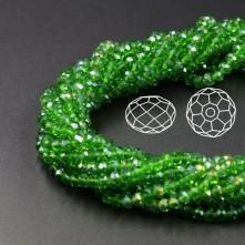 İpe Dizili Kristal Boncuk - 4 mm - janjanlı açık yeşil