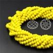 İpe Dizili Kristal Boncuk - 4 mm - Sarı
