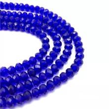 Kristal Boncuk  - 10 mm  parlament mavi