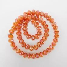 ipe dizili Kristal Boncuk - 2mm -  janjan turuncu