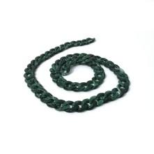 Çubuk Döküm Geçmeli Zincir - Koyu Yeşil - 11mm - 1 adet