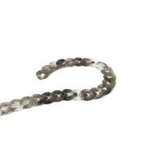 Çubuk Döküm Geçmeli Zincir - siyah & beyaz - 11mm - 1metre