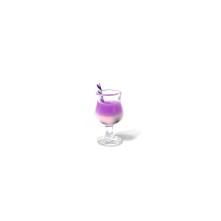 mini kokteyl bardağı - kolye ucu - lila