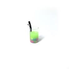 mini kokteyl bardağı - kolye ucu - açık yeşil