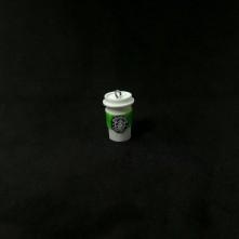 starbucks kolye ucu - beyaz & yeşil