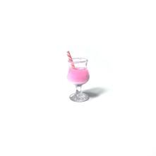 mini kokteyl bardağı - kolye ucu - pembe