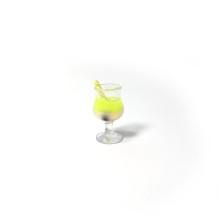 mini kokteyl bardağı - kolye ucu - sarı - 25 ADET