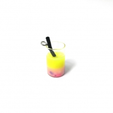 mini kokteyl bardağı - kolye ucu - sarı