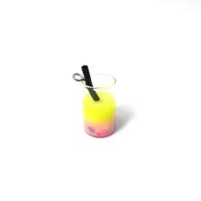 Mini Kokteyl Bardağı - Kolye Ucu - MİX RENKLER - 25 Adet
