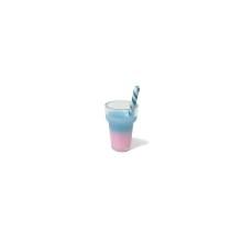 Mini Kokteyl Bardağı - Kolye Ucu - Mavi
