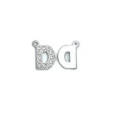 Taşlı Harfler - Üstten Kulplu Gümüş - D