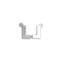 Taşlı Harfler - Üstten Kulplu Gümüş - L