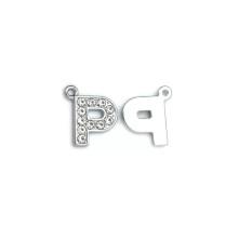 Taşlı Harfler - Üstten Kulplu Gümüş - P