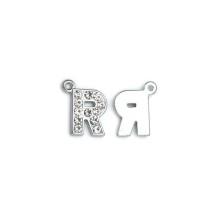 Taşlı Harfler - Üstten Kulplu Gümüş - R