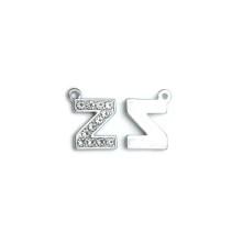 Taşlı Harfler - Üstten Kulplu Gümüş - Z