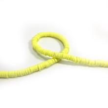 Fimo Hamur Boncuğu - Açık Sarı