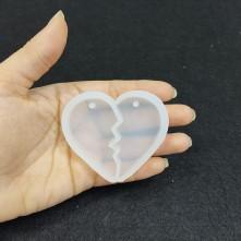 20 Adet  Kolye Anahtarlık  Kalp Arkadaşlık - Reçine Epoksi Kalıp - A18