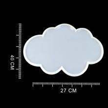 20 ADET Tepsi Bulut - Reçine Epoksi Kalıp - T2