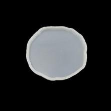 20 ADET - Dalgalı Oval - Bardak Altı Reçine Epoksi Kalıp - b12
