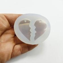 20 ADET Arkadaşlık Kolyesi Kalp Modeli - Reçine Epoksi Kalıp