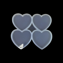 20 ADET Dörtlü Kalp Reçine Epoksi Kalıbı
