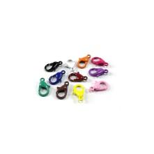 Mini Papağan Klips - Metal - 10 adet - Mix Renkler