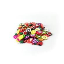 5 gram - Mini Meyve Renkli Pul Paketi - Epoksi Süsleme Pulu - 10mm