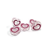 Şeffaf Kalp Boncuk - 1 adet