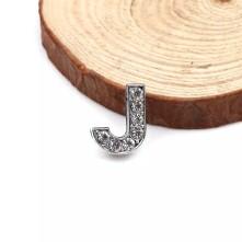 Taşlı Harfler - Kulpsuz  Gümüş - J