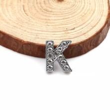 Taşlı Harfler - Kulpsuz  Gümüş - K