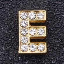 Taşlı Harfler - Kulpsuz  Gold  - E