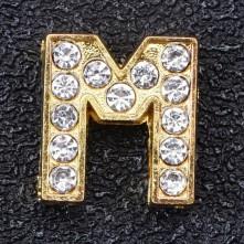 Taşlı Harfler - Kulpsuz  Gold  - M
