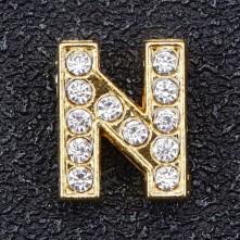 Taşlı Harfler - Kulpsuz  Gold  - N
