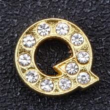 Taşlı Harfler - Kulpsuz  Gold  - Q