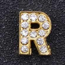 Taşlı Harfler - Kulpsuz  Gold  - R