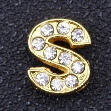 Taşlı Harfler - Kulpsuz  Gold  - S