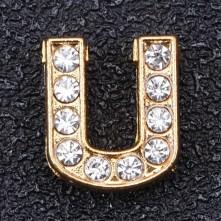 Taşlı Harfler - Kulpsuz  Gold  - U