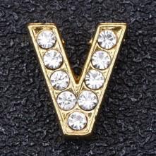 Taşlı Harfler - Kulpsuz  Gold  - V